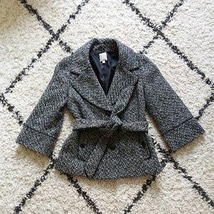 Halogen belted tweet jacket